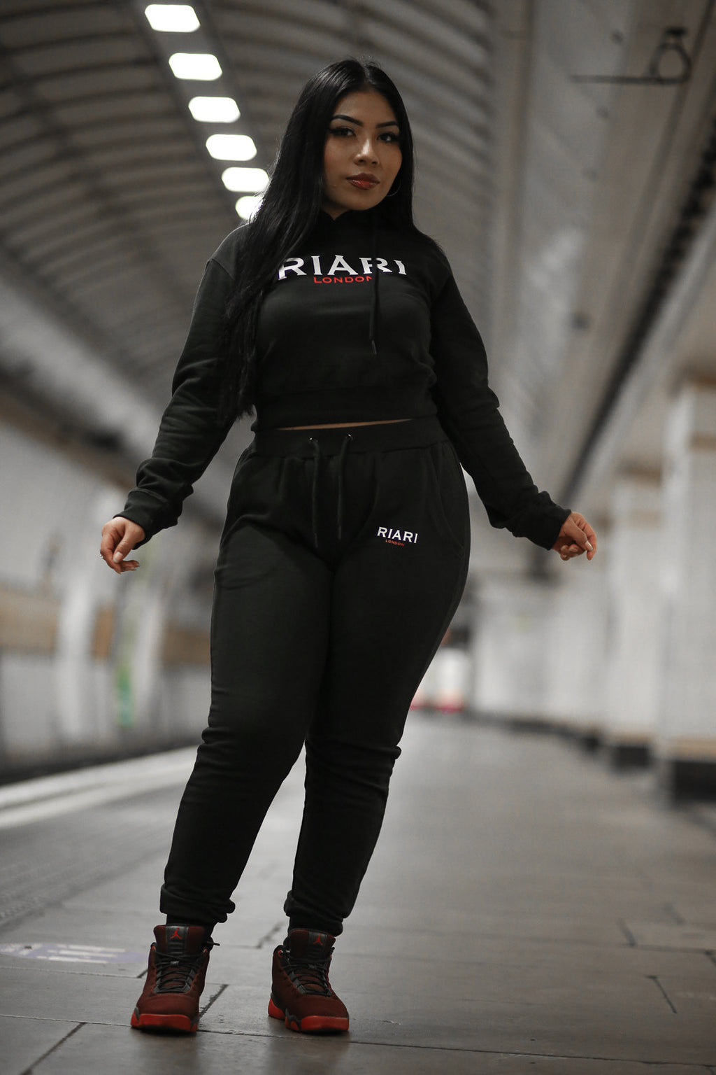 Women's Black Hustle Tracksuit