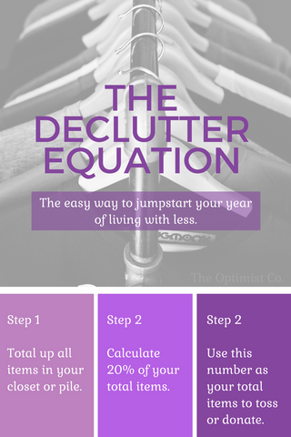 the declutter calculation for 20 percent less clutter