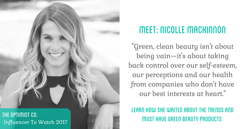 nicolle macinnon leading influencer in green beauty movement
