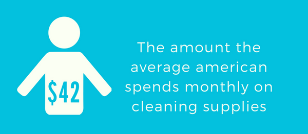 how much do americans spend on cleaning products?