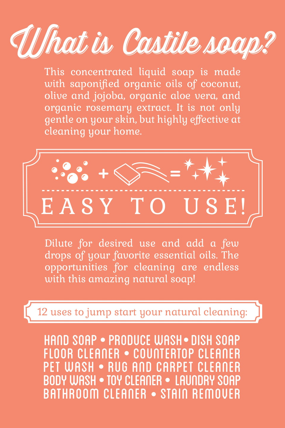 Castile soap benefits