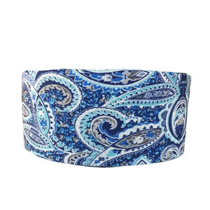 Blue Paisley Tube Turban