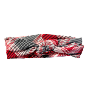 Checky Plaid Infinity Turban
