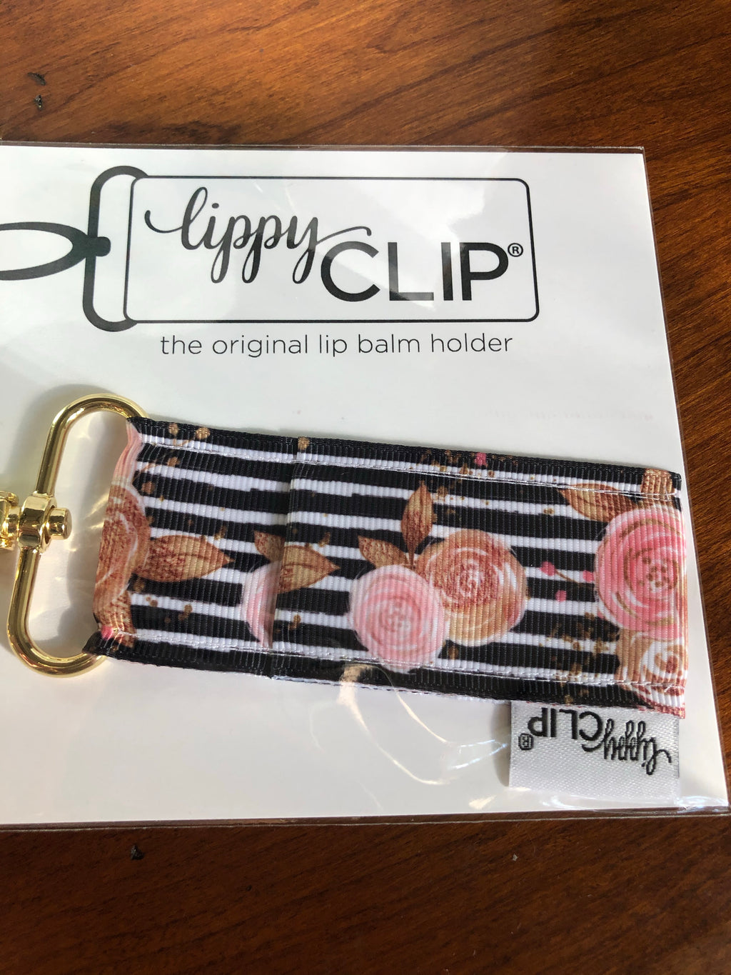 Lippy Clip - Back & Blush Floral