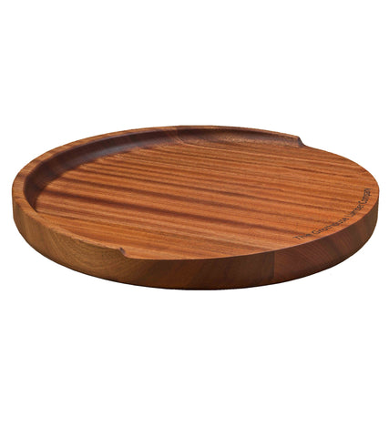 The Trencher Sapele Mahogany Round Wood Reversible Cutting Board