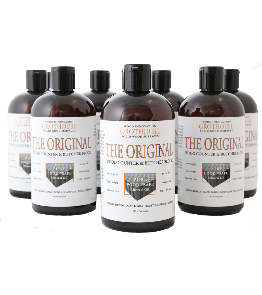 Grothouse Original Oil™ | Butcher Block Oil | Wood Countertop | Cutting Board Oil | 12 Bottles