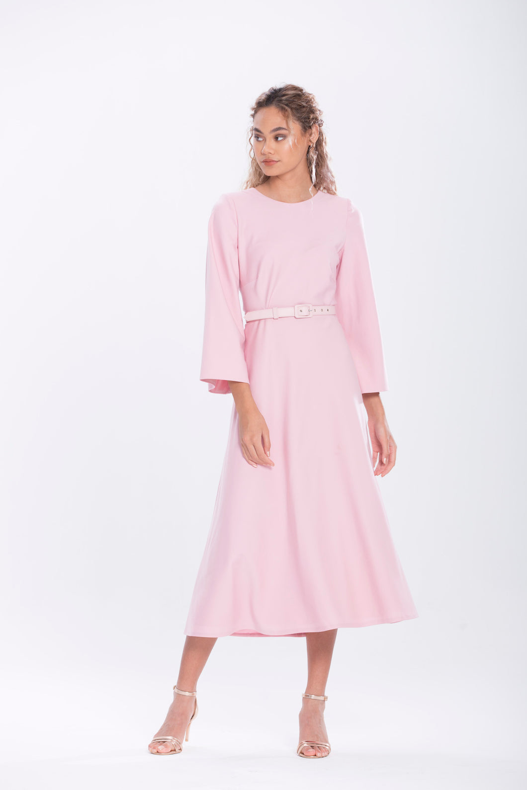 Evening Rose Italian Crepe Cocktail Dress