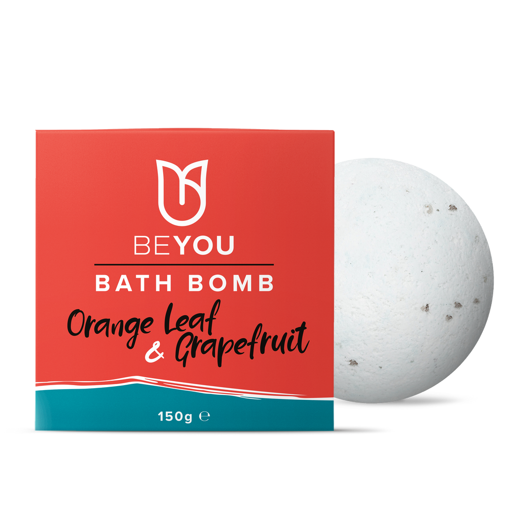 BeYou Bath Bomb Orange Leaf & Grapefruit