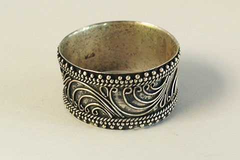 925 Silver philigre thick band