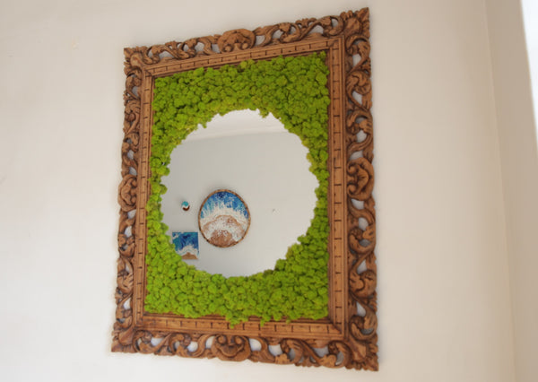 Ever Moss Framed Mirror