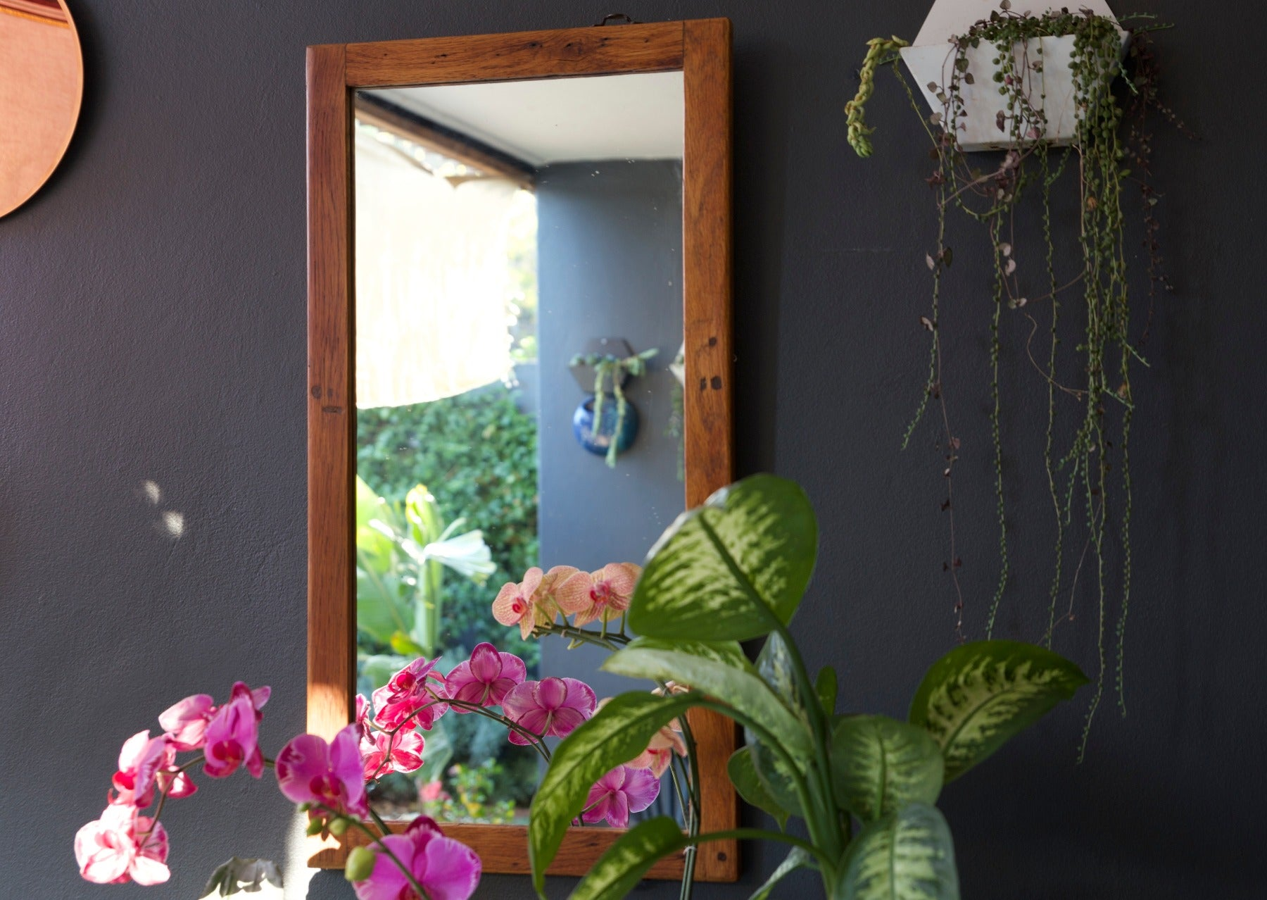 Vintage Wooden Window Frame Mirror Upcycled