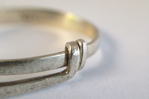 925 silver double band knot