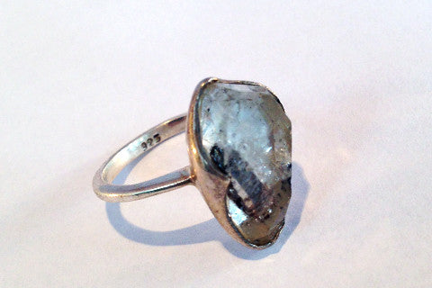 925 Silver Herkimer Silver ring