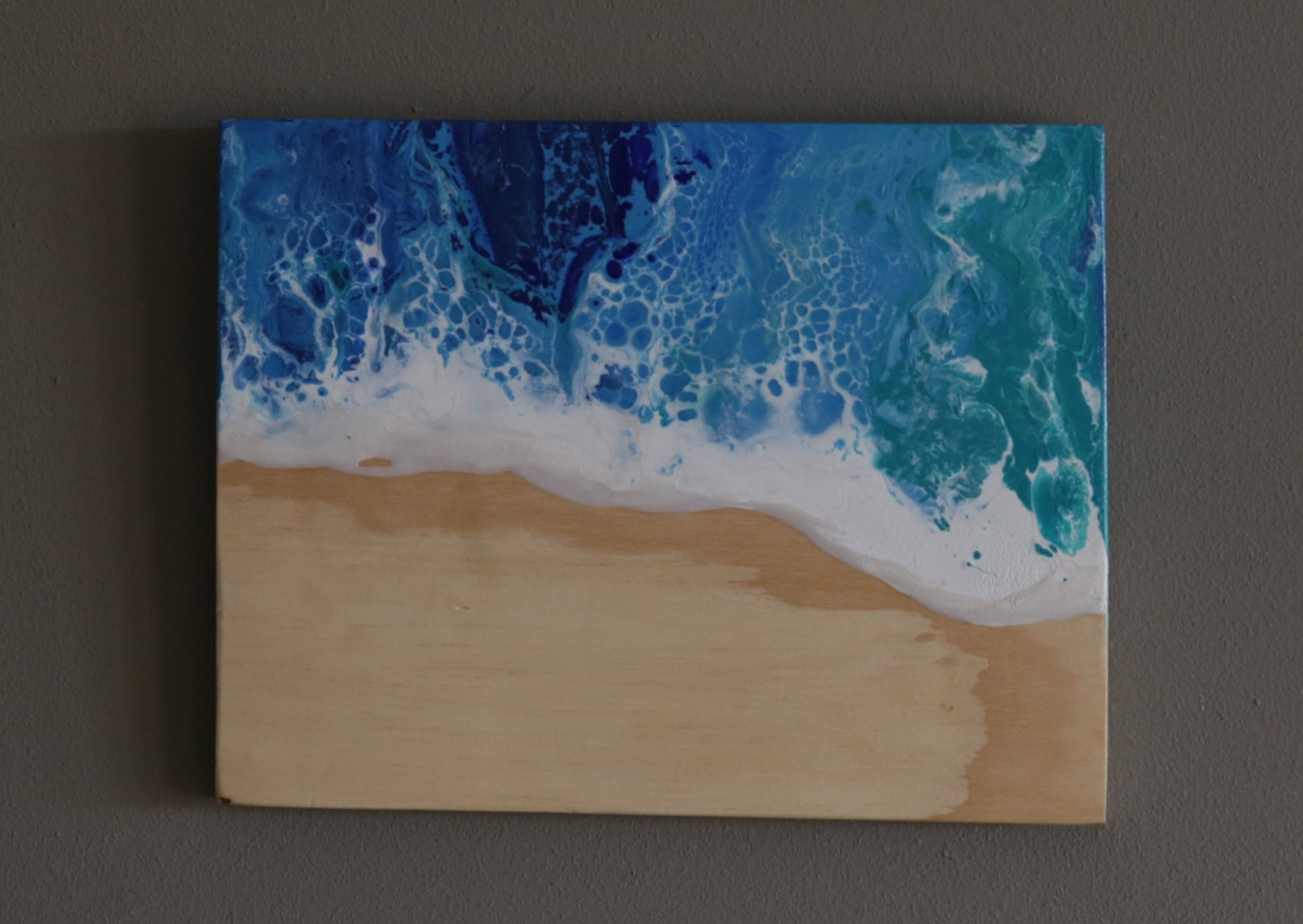 Wooden Beach Painting