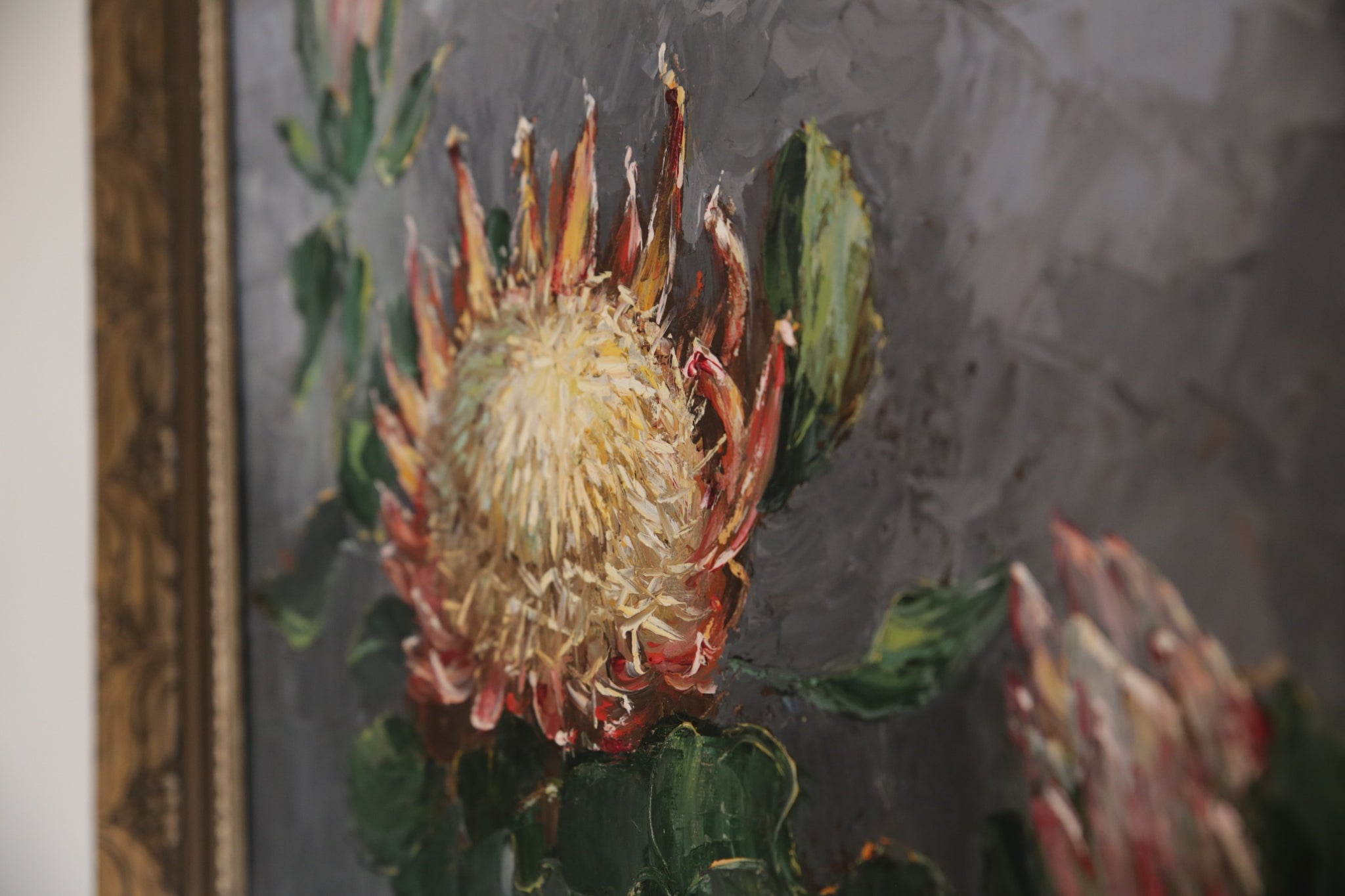 Protea Oil Painting