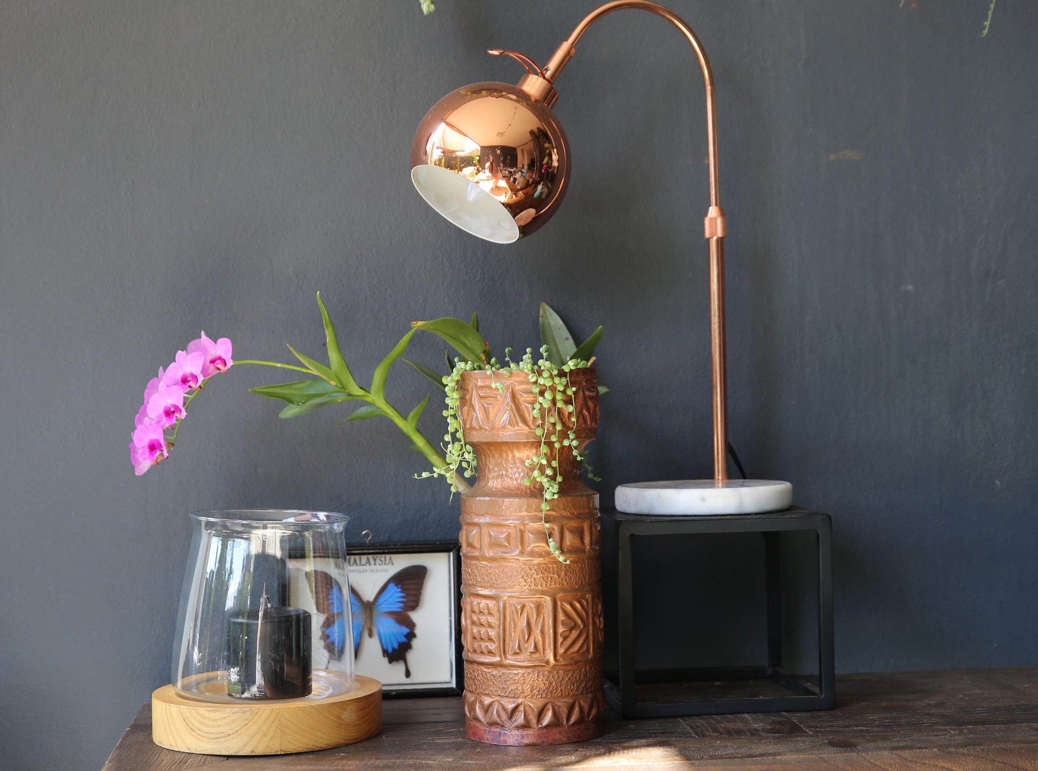 Unique Copper Plant Pot