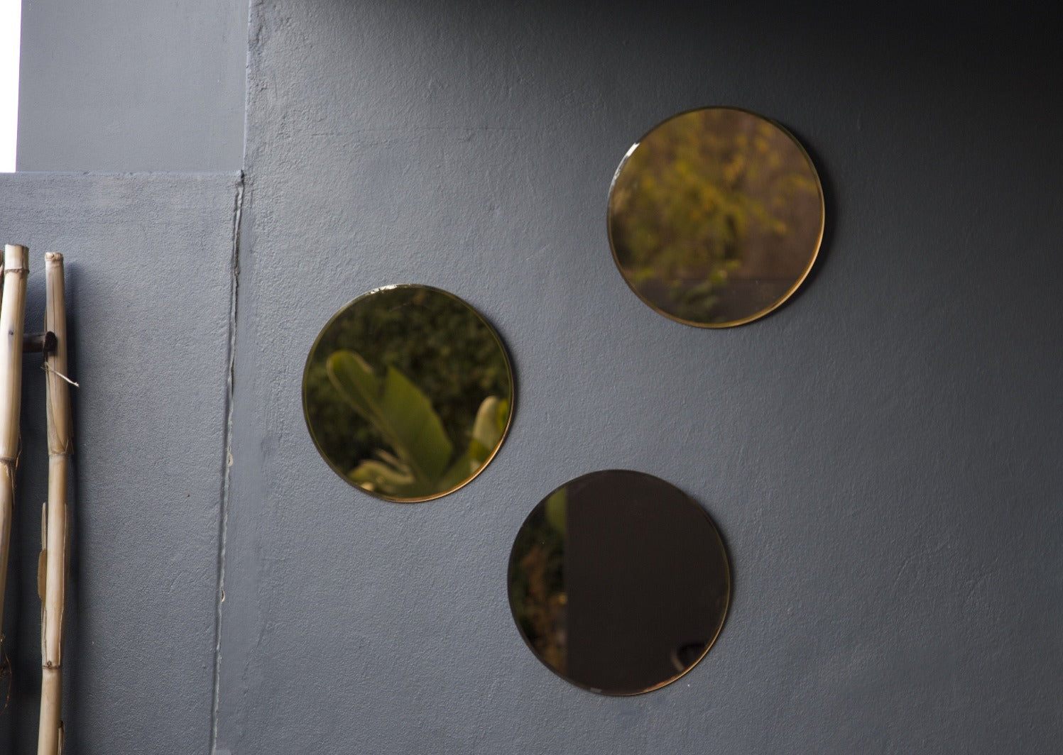 Round Copper Mirror Wall Hanging