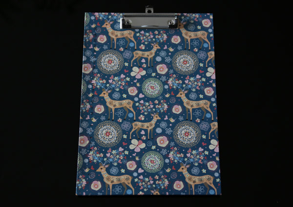 Deer & Floral Love Print Clipboard