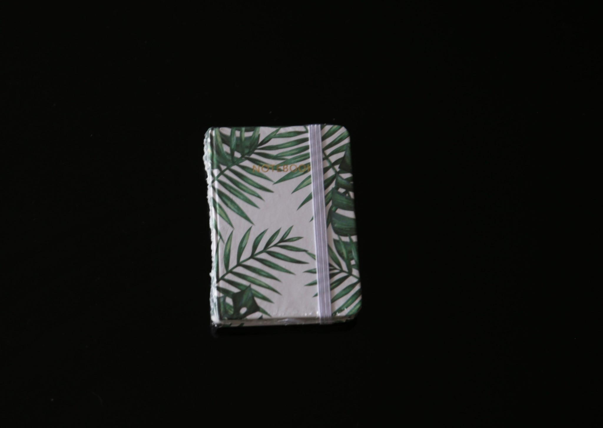 Botanical Leaf Print Notebook Palm Leaf