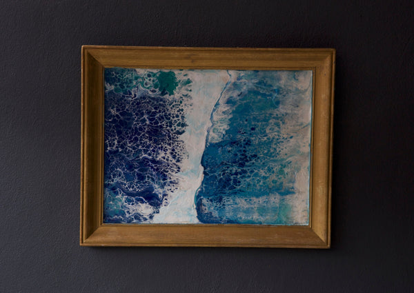 Ocean Painting Gold Frame