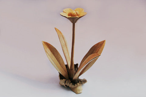 Carved Wooden Flower