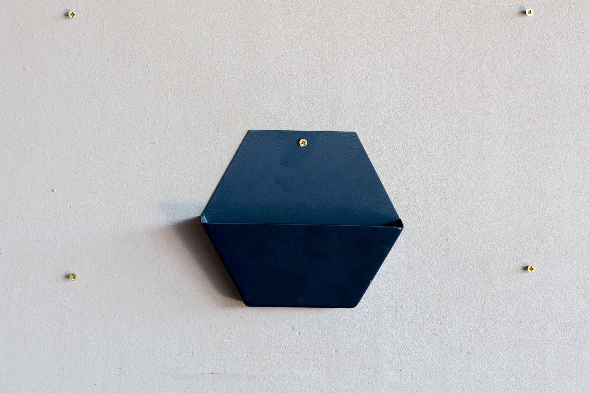 Charcoal Large Hex Wall Pot Powder coated