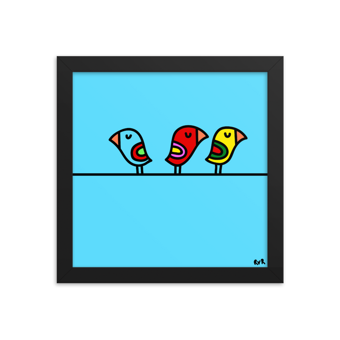 BIRD ON A WIRE - Art by roel-van-roozendaal.myshopify.com