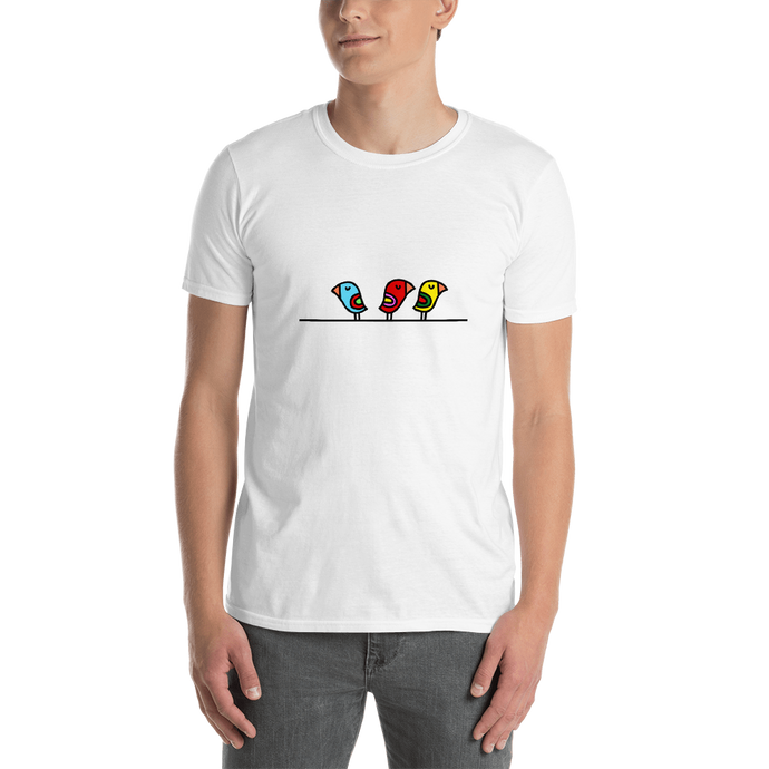 BIRD ON A WIRE UNISEX T-SHIRT - T-Shirt by roel-van-roozendaal.myshopify.com