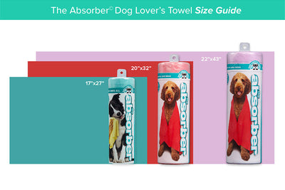 The Absorber® Max Dog Lover's Towel (22 in. x 43 in.) - Dog Lover's Towel