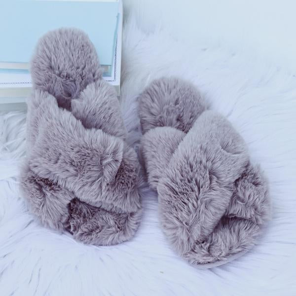 SLIPPERS GREY - TYPE 1 DIABETES SIZE 7-8