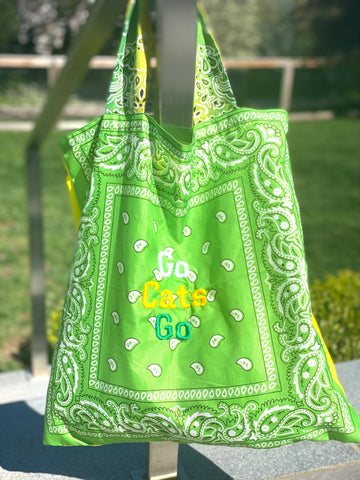 BANDANA BEACH BAG - EMBROIDERED COLLEGE