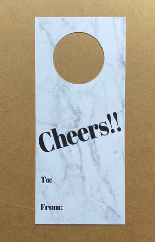 WINE TAGS CHEERS - SUPPORTS ONE TREE PLANTED