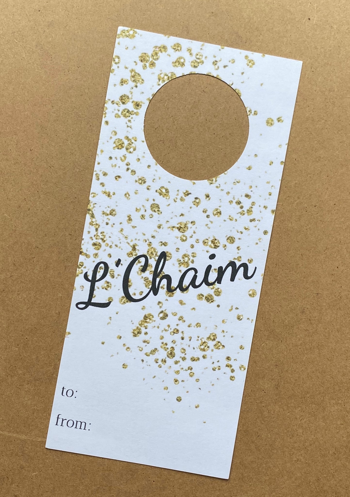 WINE TAGS L'CHAIM - SUPPORTS ONE TREE PLANTED