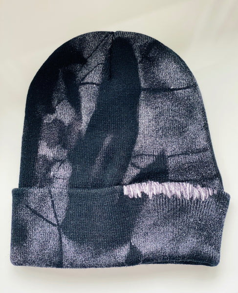 HAT - SPRAY PAINTED BLACK/SILVER