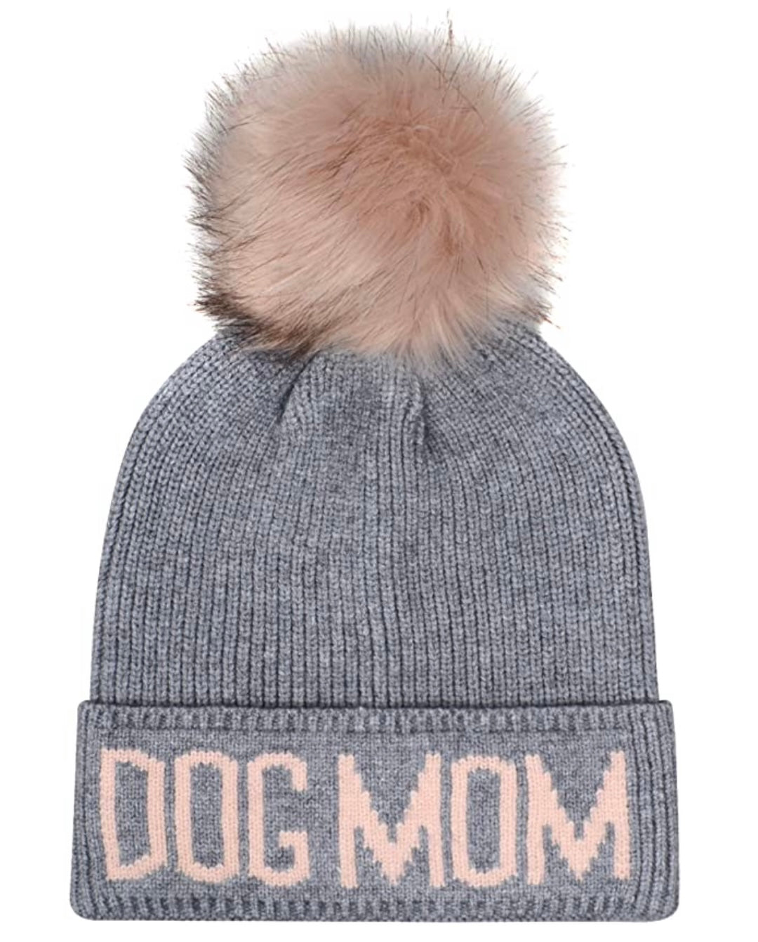 DOG MOM - GREY/PINK