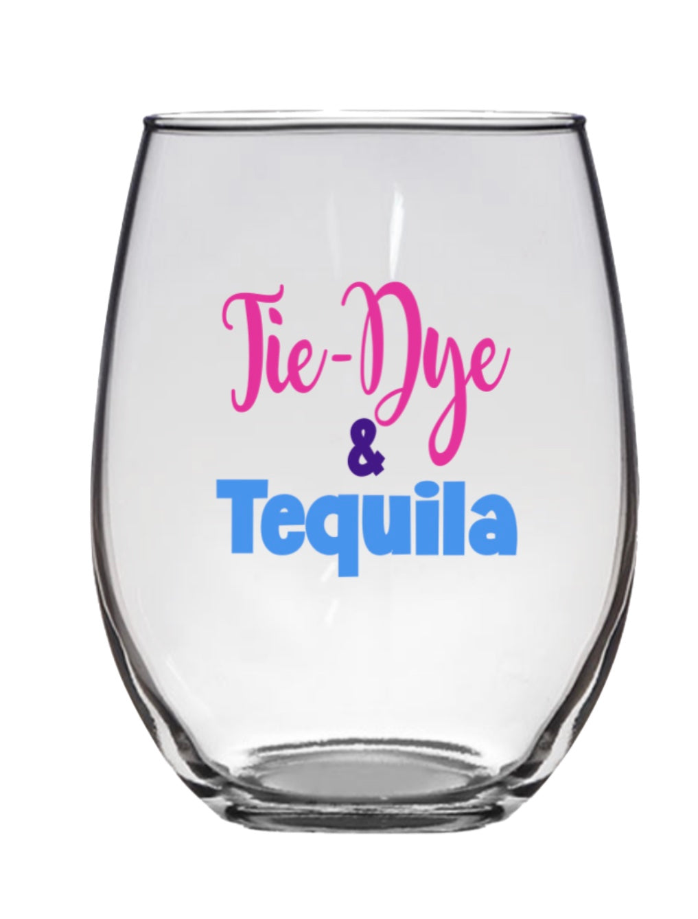 STEMLESS WINE GLASS - TIE DYE