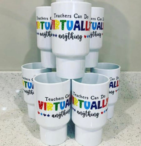 TEACHER TUMBLER RAINBOW