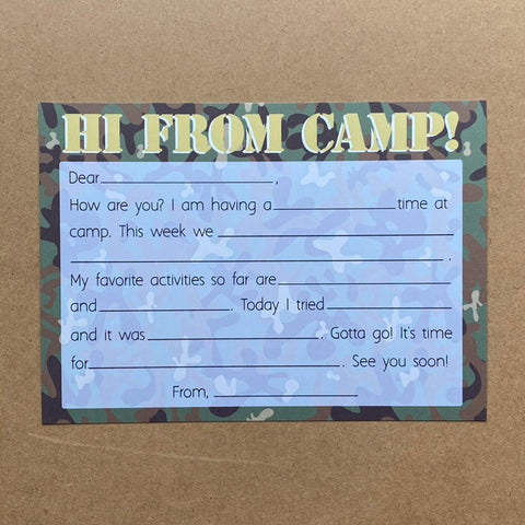 HI FROM CAMP CAMO - SUPPORTS ONE TREE PLANTED