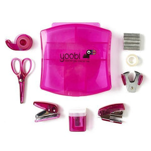 YOOBI MINI DESK SUPPLY KIT - PROVIDES SCHOOL SUPPLIES