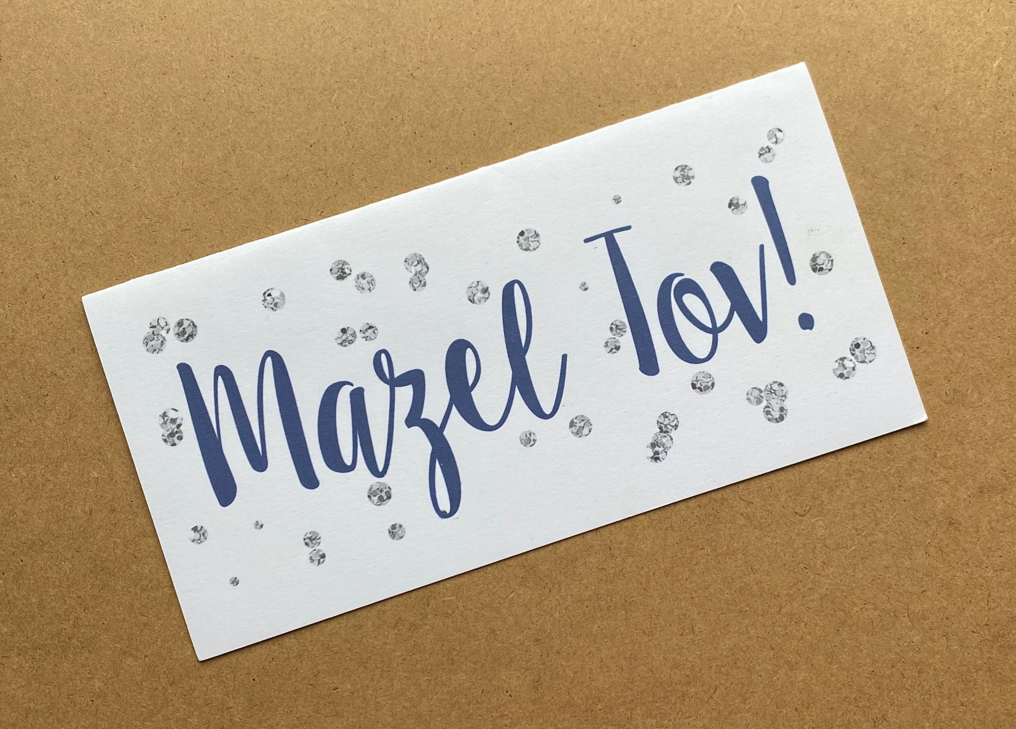 MAZEL TOV CARDS W/NAVY - SUPPORTS ONE TREE PLANTED