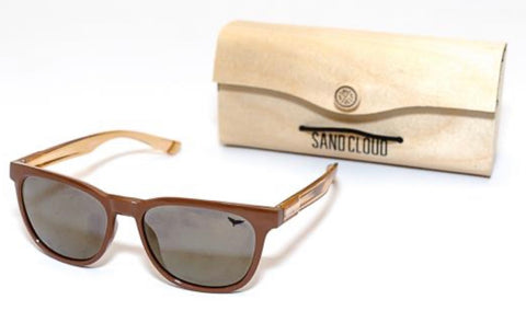 RECYCLED SUNGLASSES BROWN - MARINE CONSERVATION