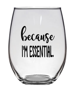 STEMLESS WINE GLASS - ESSENTIAL