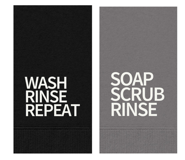 GUEST TOWELS - WASH RINSE REPEAT