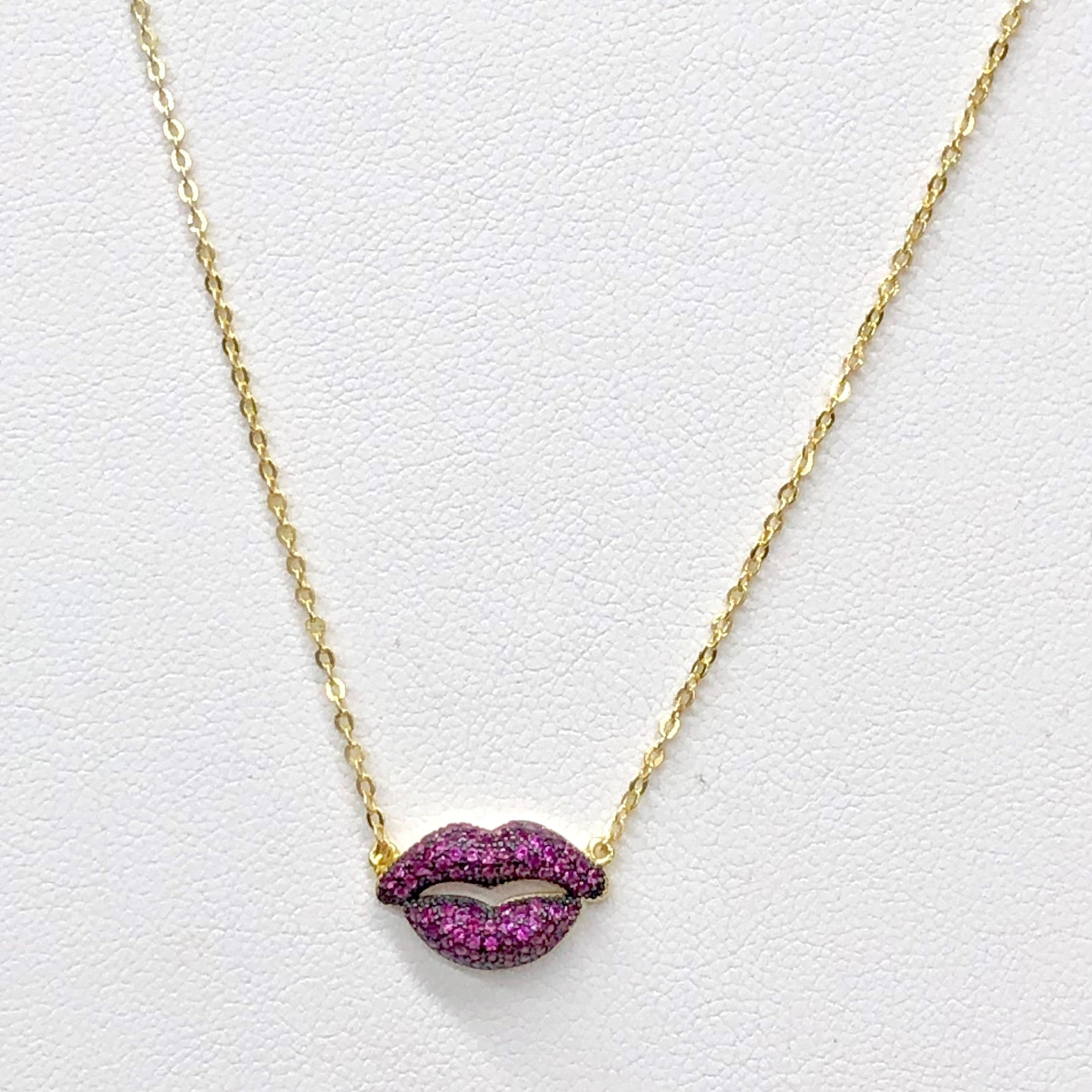 LIPS NECKLACE PW