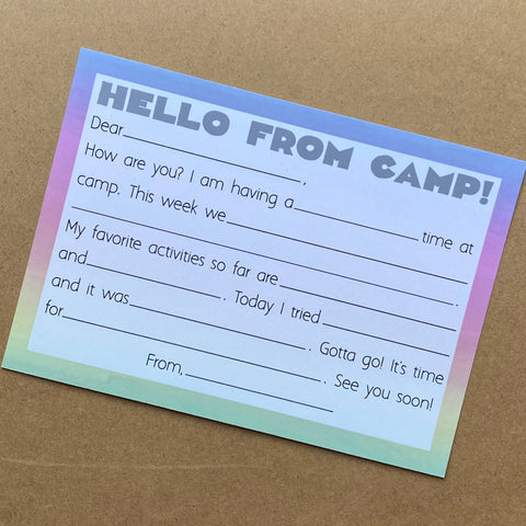 HELLO FROM CAMP PASTEL - SUPPORTS ONE TREE PLANTED