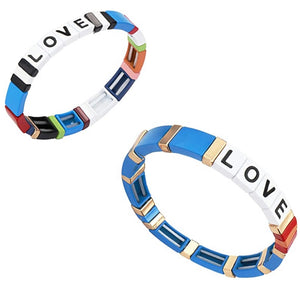BRACELET- ROYAL BLUE AND RAINBOW