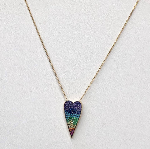 COLORED HEART NECKLACE