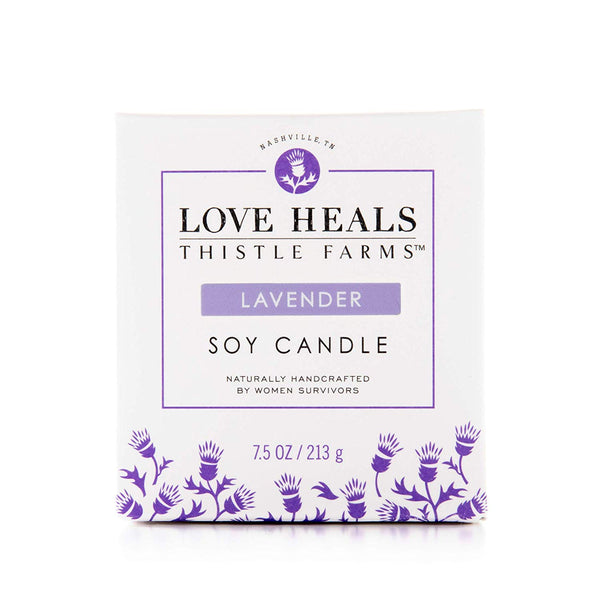 LOVE HEALS CANDLE - HELPS WOMEN SURVIVORS HEAL