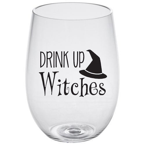 STEMLESS WINE GLASS - DRINK UP WITCHES