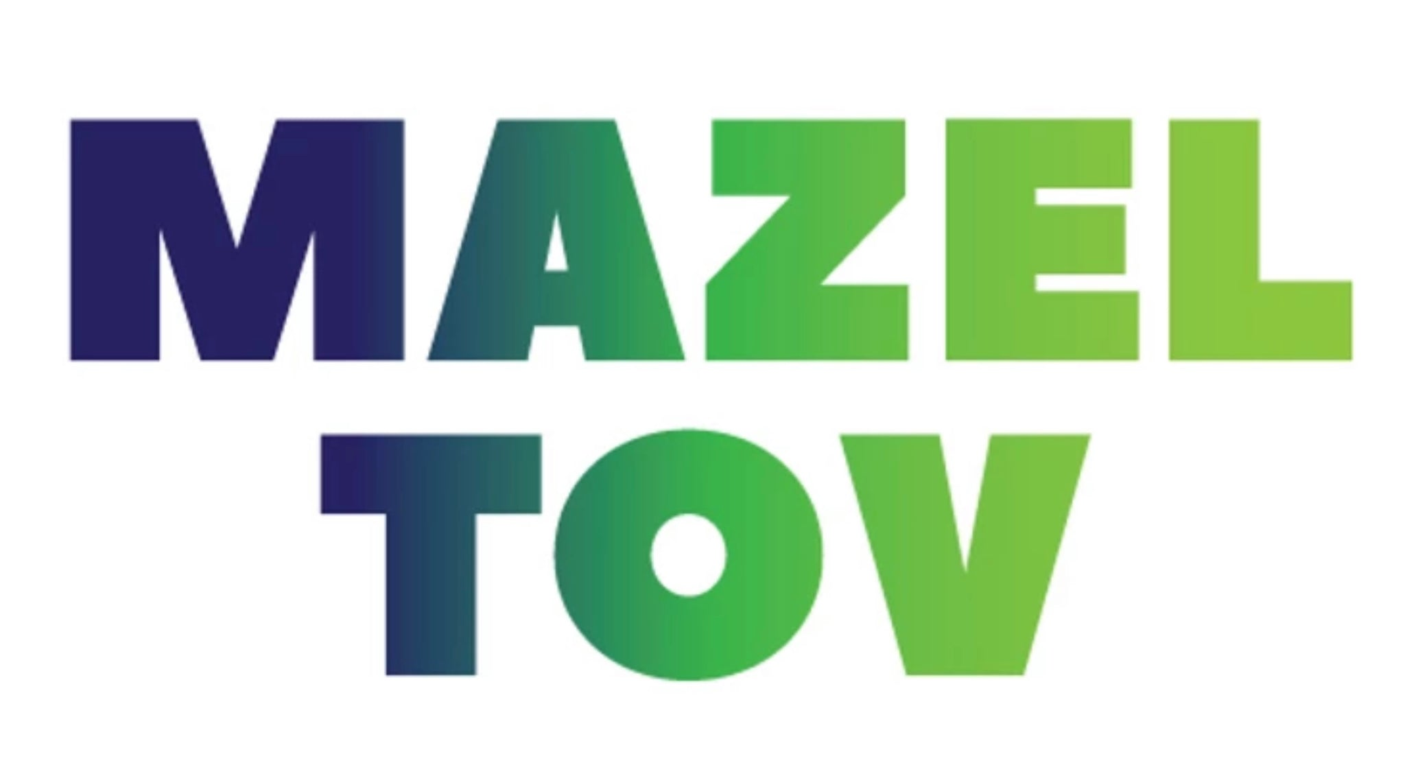 MAZEL TOV CARDS NAVY GREEN - PW